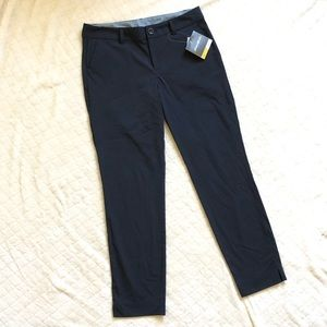 Eddie Bauer navy travex flexion pants/ 4